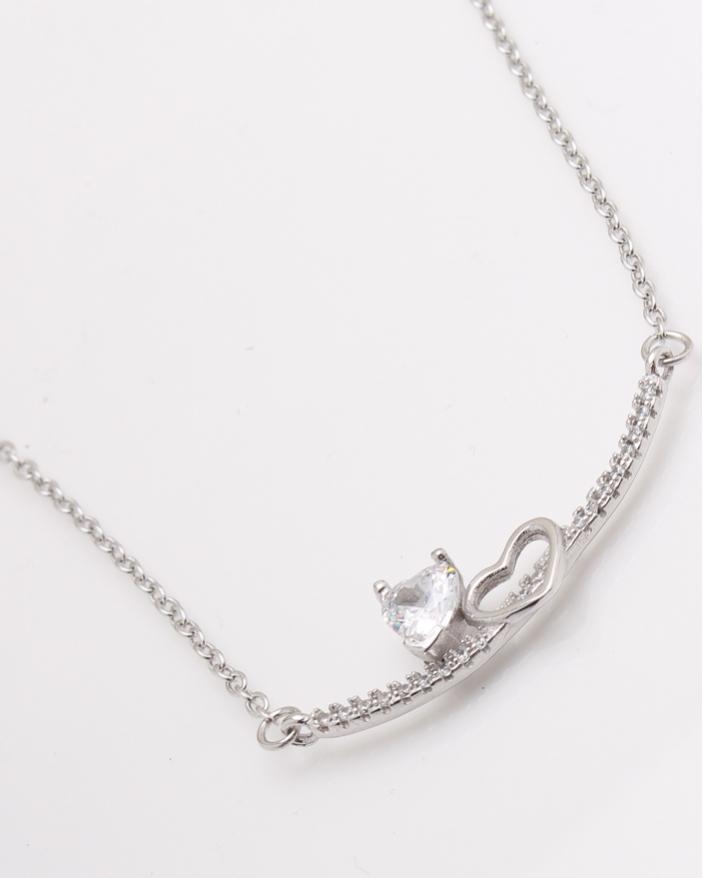Colier argint piatra inima cod 4-24271, gr2.7