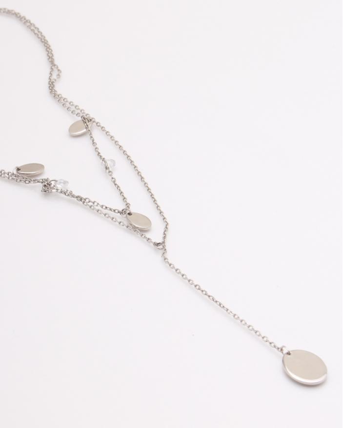 Colier argint rodiat cod 4-24587, gr5.1