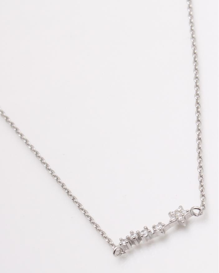 Colier argint rodiat pietre albe cod 4-25172, gr2.6