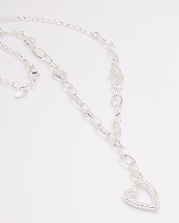 Colier argint si inima cod 4-33866, gr8.3