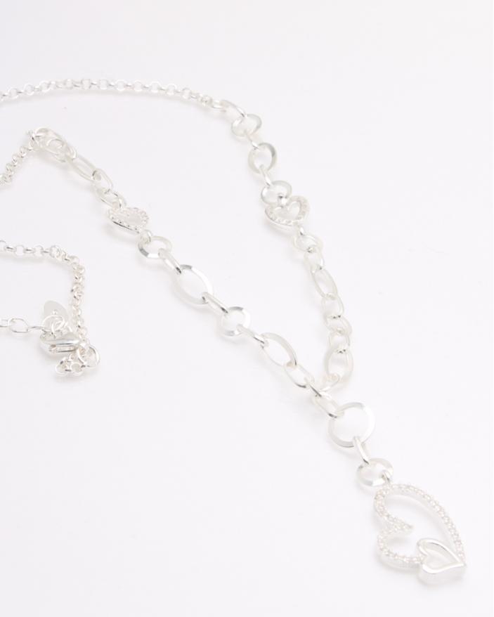 Colier argint si inima cod 4-33868, gr8.2