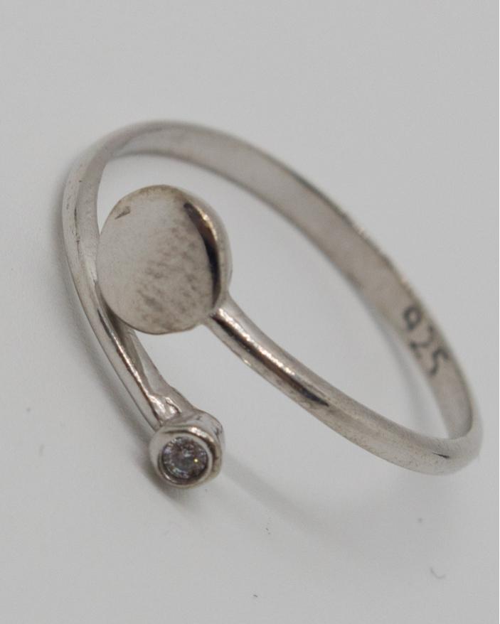 Inel argint cod 1-11777, gr1.1