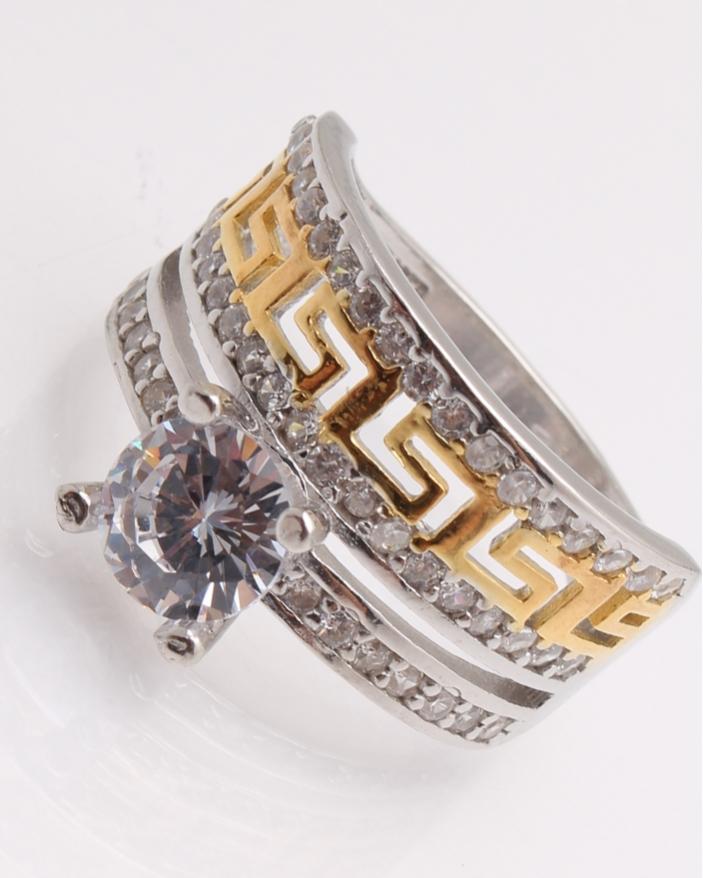 Inel argint, cu model grecesc cod 1-22265, gr5.8