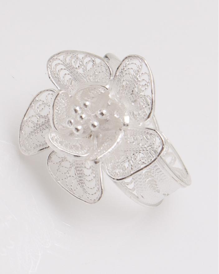 Inel argint filigran floare cu 5 petale cod 1-23066, gr3.4