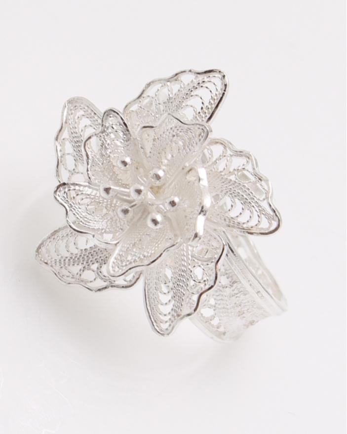 Inel argint filigran floare cod 1-23069, gr3.2