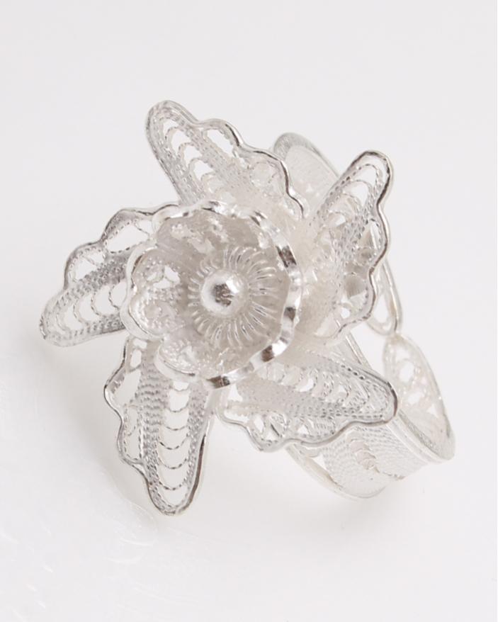 Inel argint filigran floare cod 1-23073, gr3.7