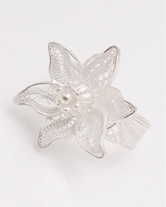 Inel argint filigran floare cod 1-23077, gr3.6