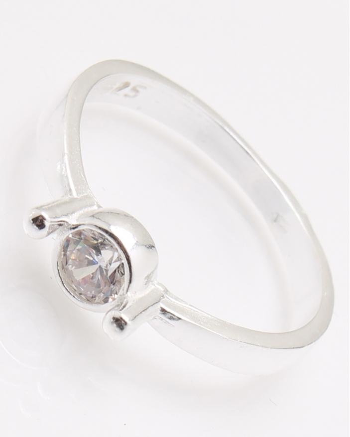 Inel argint piatra alba cod 1-24904, gr2