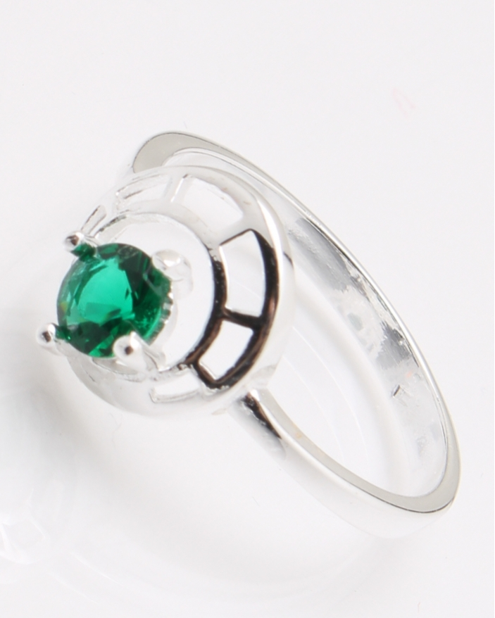 Inel argint piatra verde cod 1-25030, gr2.2