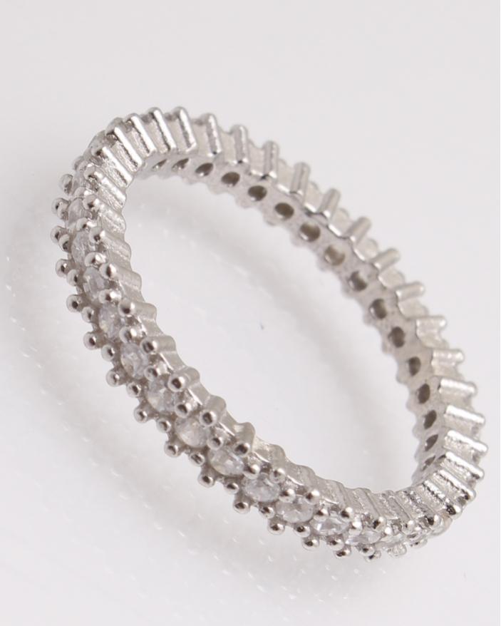 Inel argint cu pietricele cubic zirconia cod 1-25786, gr1.9