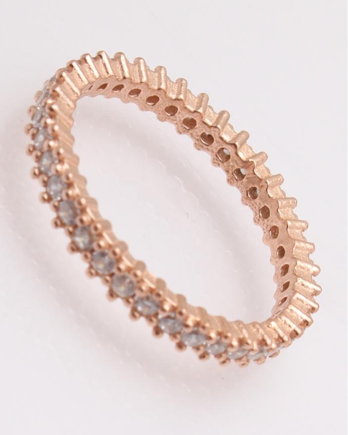 Inel argint roze cu pietricele cubic zirconia cod 1-25795, gr2