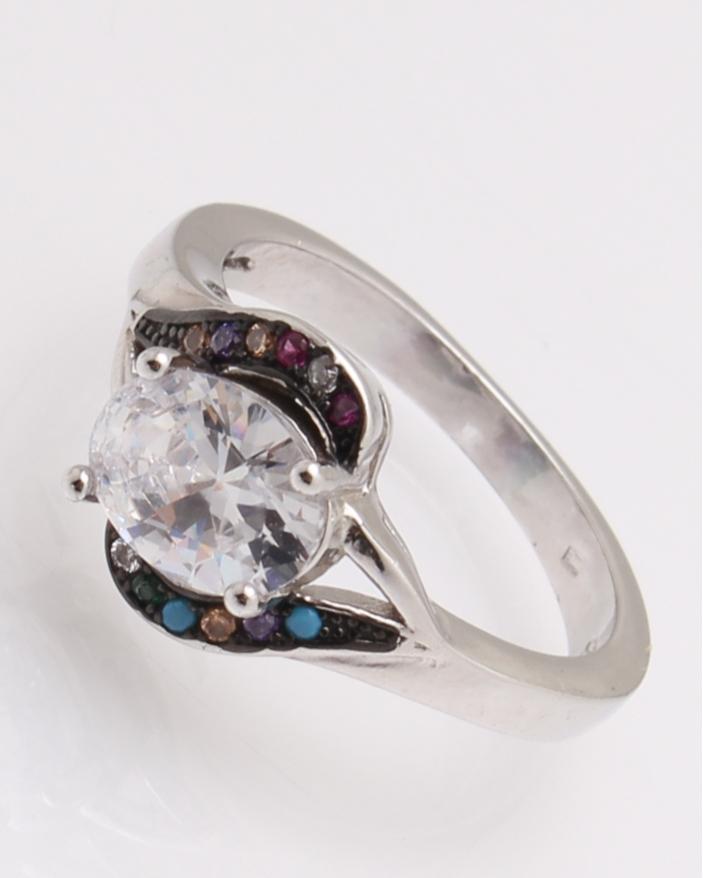 Inel argint pietricele colorate cod 1-26087, gr3.6