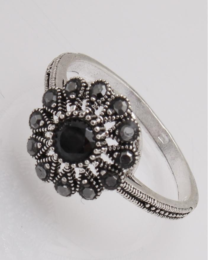Inel argint floare cu marcasite cod 1-26904, gr2.9
