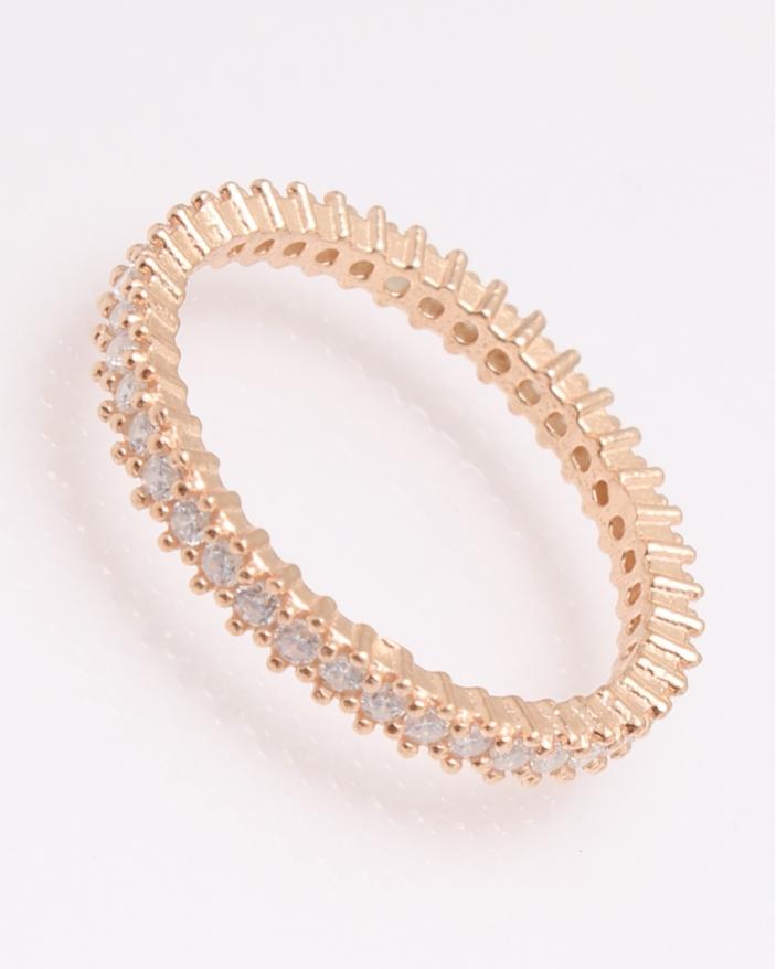 Inel argint tennis roz cu pietre albe cod 1-30410, gr2