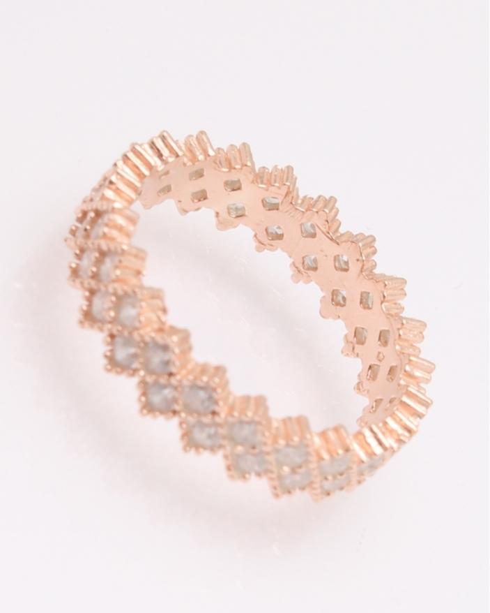 Inel argint tennis roz cu doua randuri de pietre albe cod 1-30415, gr2.4