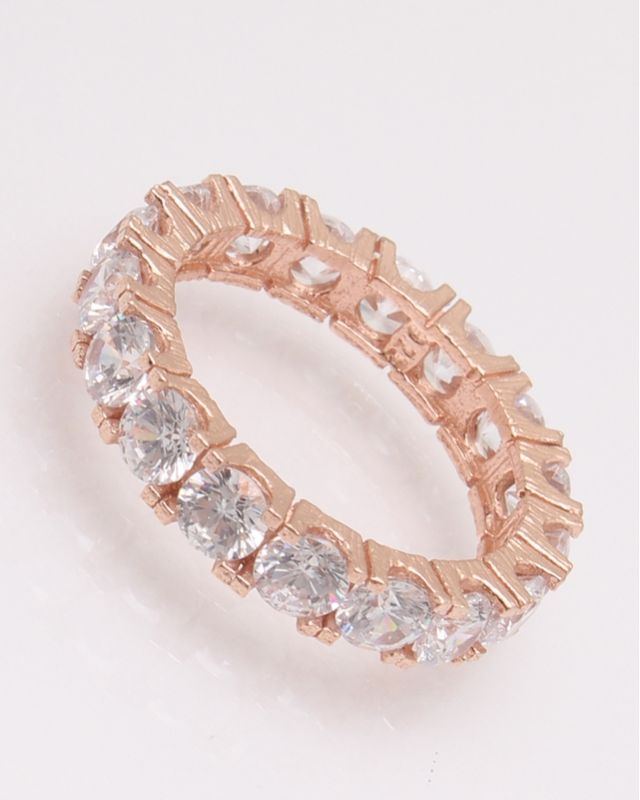 Inel argint tennis roz cu un rand de pietre albe cod 1-30427, gr2.9