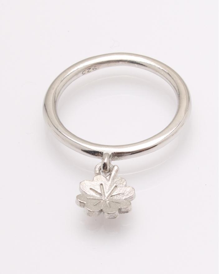 Inel argint cu floricica atarnata cod 1-31555, gr2.2