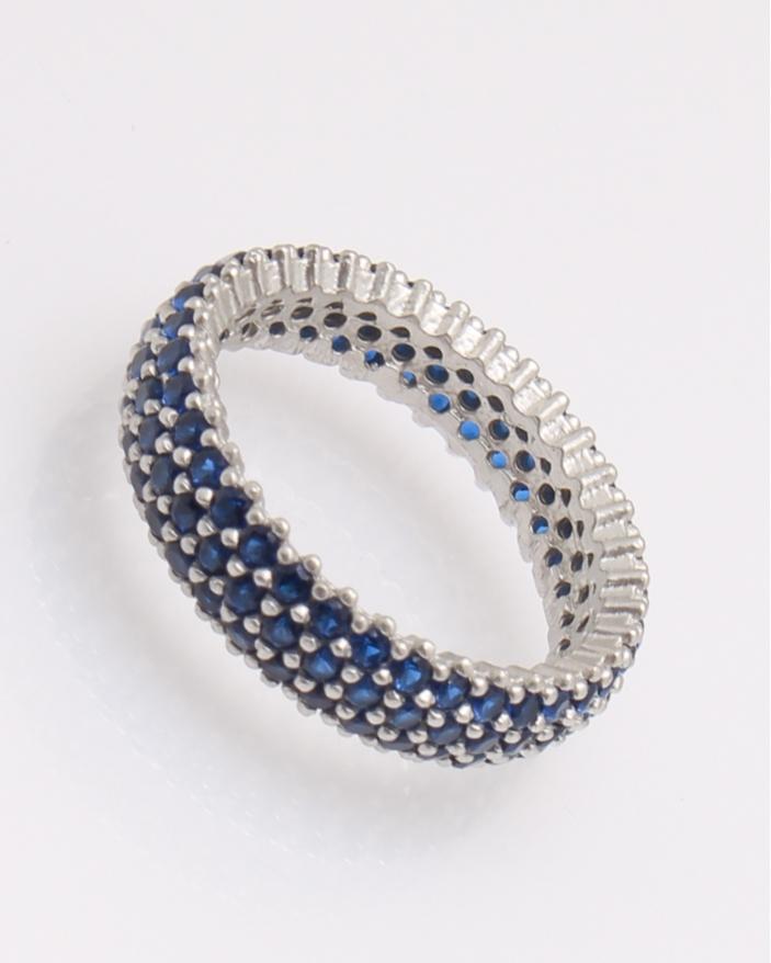 Inel argint tennis cu pietre albastre cod 1-31732, gr3.3