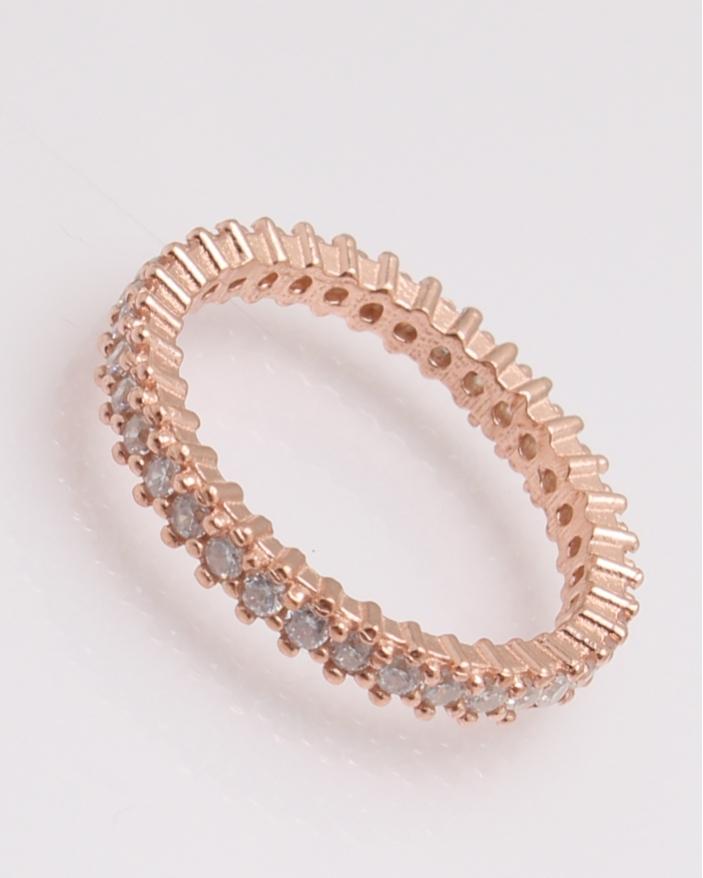 Inel argint tennis roz cu pietre albe cod 1-31740, gr2