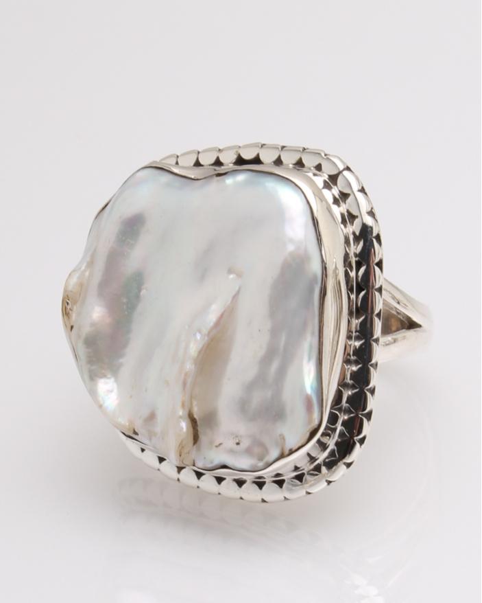 Inel argint perla de cultura cod 1-32320, gr11.5