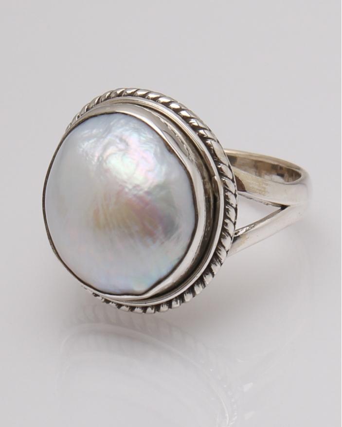 Inel argint perla de cultura  cod 1-32325, gr8.2