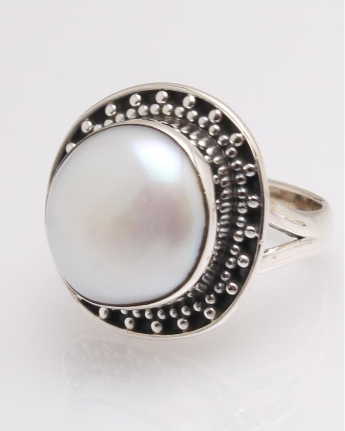 Inel argint perla de cultura cod 1-32326, gr7.9