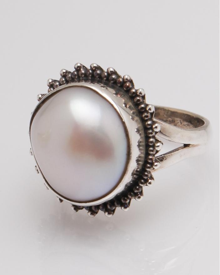 Inel argint perla de cultura  cod 1-32330, gr8