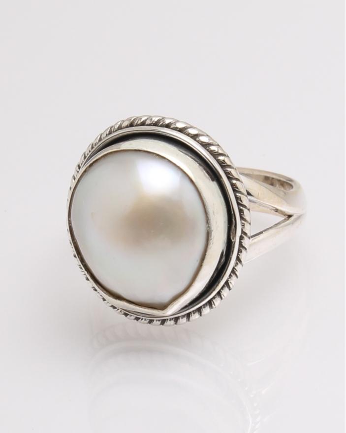 Inel argint perla de cultura cod 1-32334, gr7