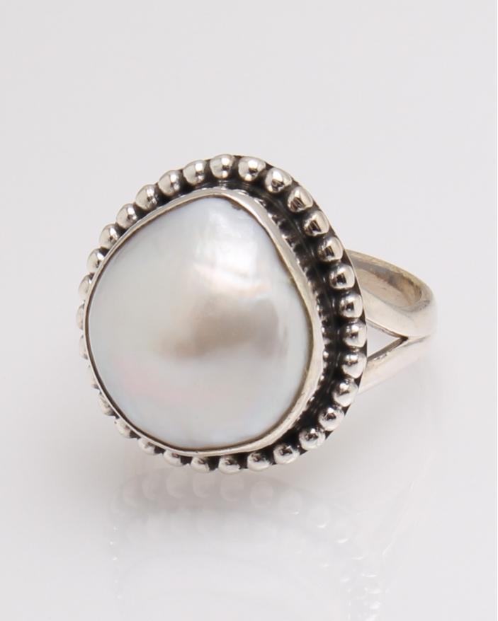 Inel argint perla de cultura cod 1-32335, gr8.6