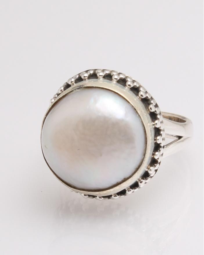 Inel argint perla de cultura cod 1-32336, gr7.5