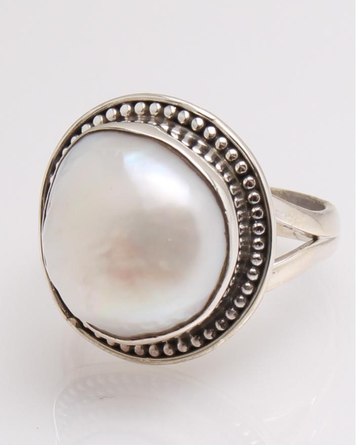 Inel argint perla de cultura cod 1-32338, gr7.4