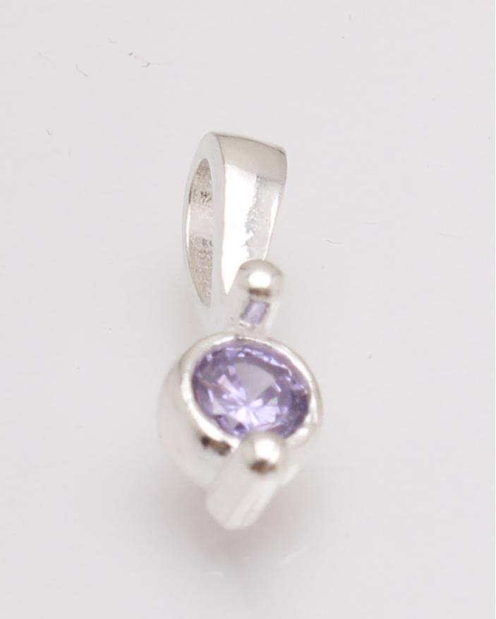 Pandantiv argint piatra lila cod 6-27072. gr0.9
