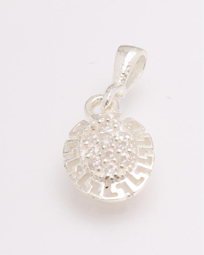 Pandantiv argint si cubic zirconia cod 6-27073. gr0.8