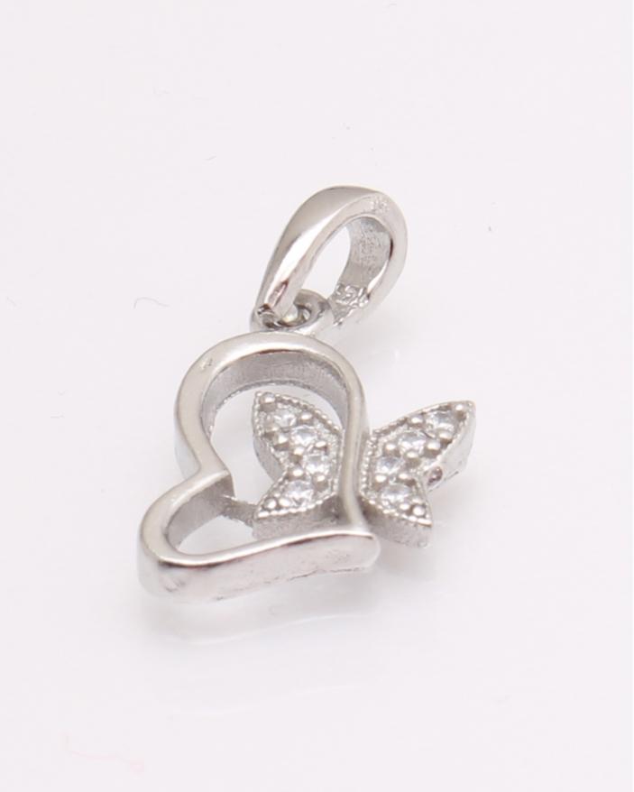 Pandantiv argint inima cu fluture cod 6-29302. gr1.4