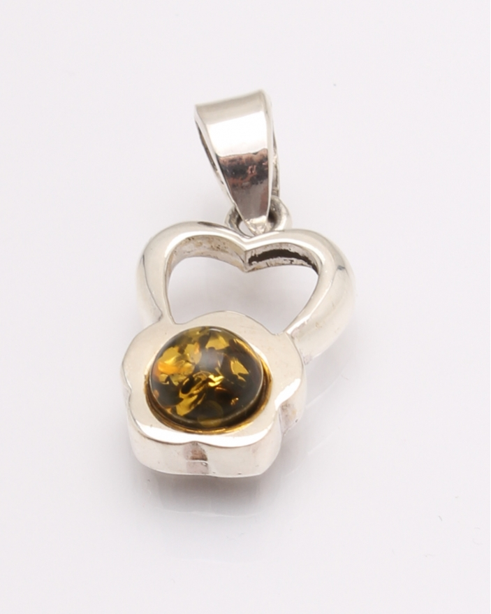 Pandantiv argint chihlimbar cod 6-31657. gr2.6