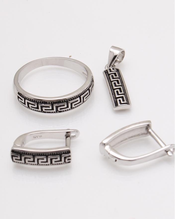 Set argint rodiat cod 3-24073, gr6.4