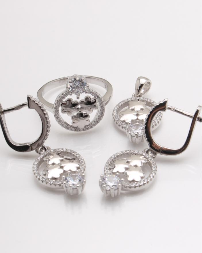 Set argint 3 floricele cod 3-24084, gr12.5