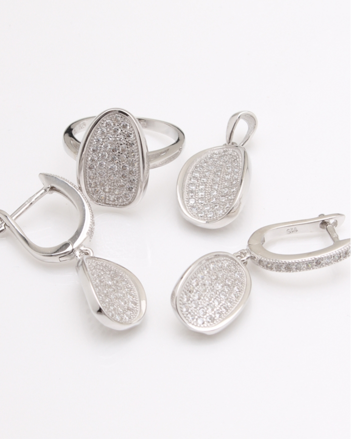 Set argint pietre cubic zirconia cod 3-24099, gr12.3