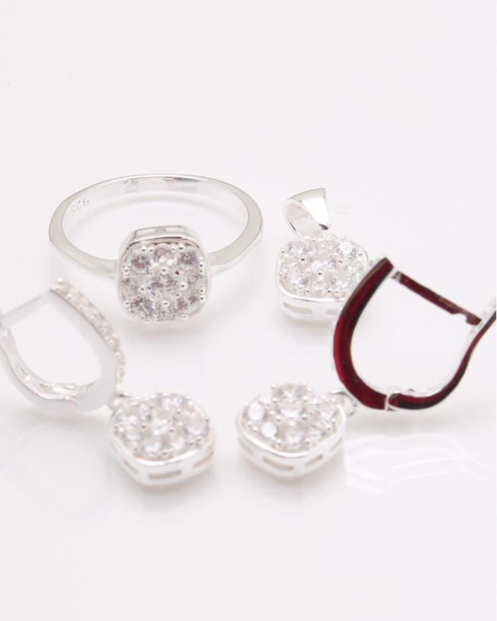 Set argint pietre cubic zirconia cod 3-24593, gr8.3