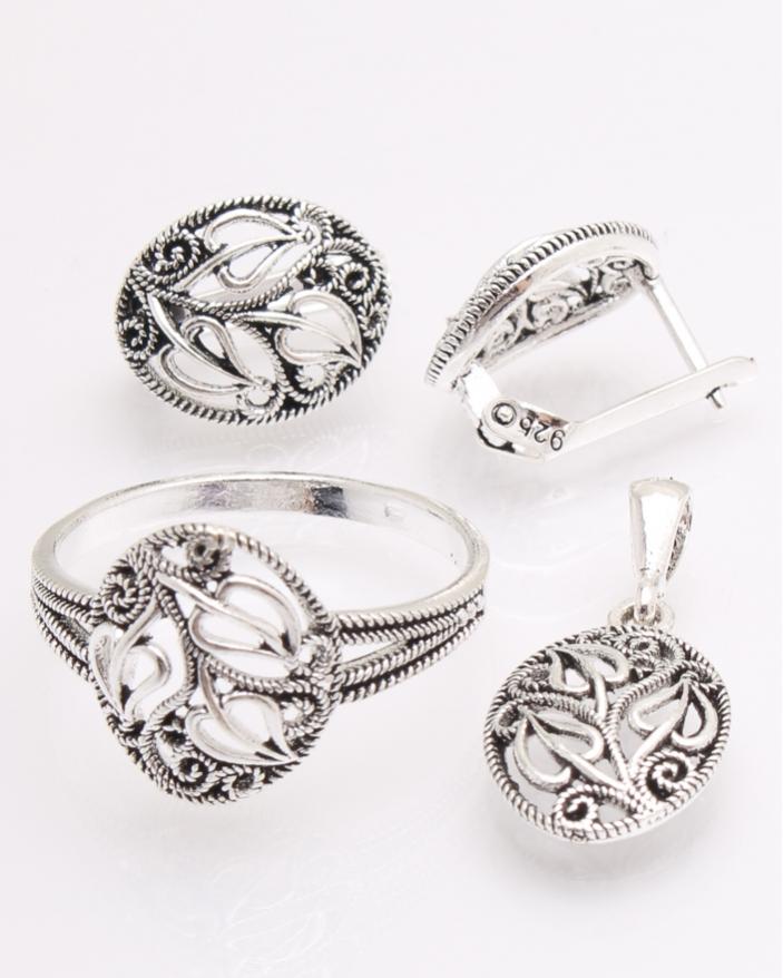 Set argint cu model cod 3-26502, gr6.7