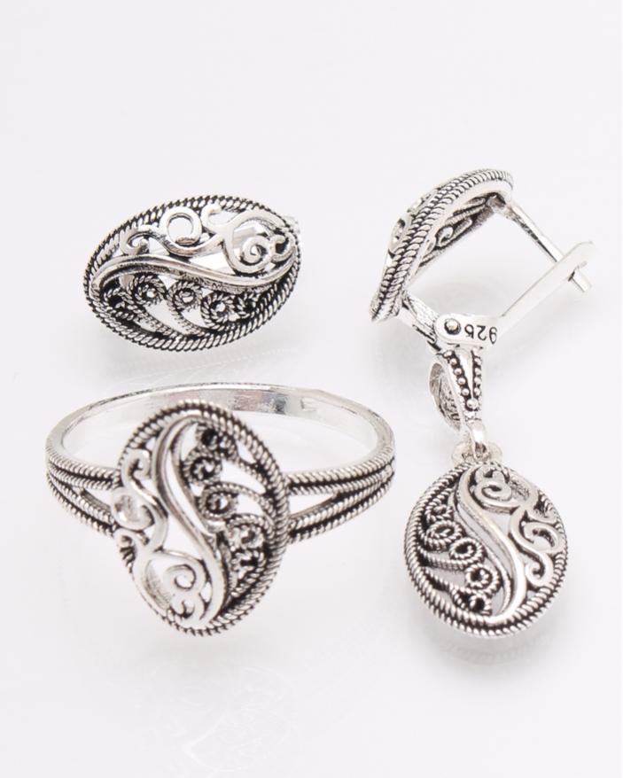Set argint cu model cod 3-26504, gr7