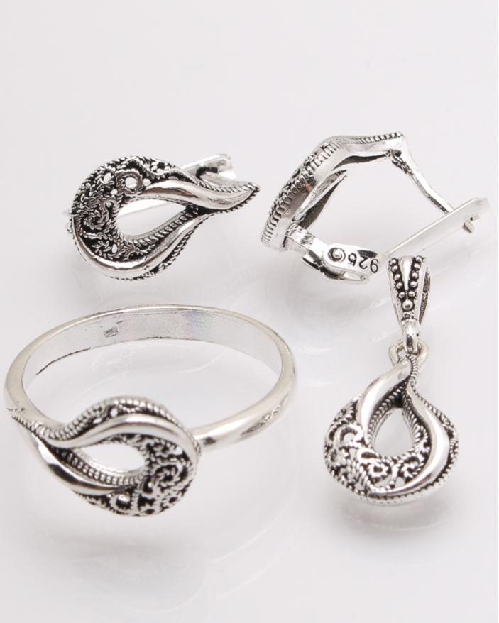 Set argint cu model cod 3-26505, gr6