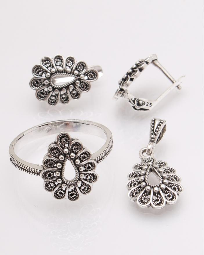 Set argint frunza cod 3-26512, gr6.7