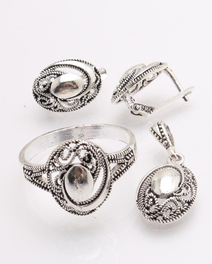 Set argint cu model cod 3-26515, gr6.7