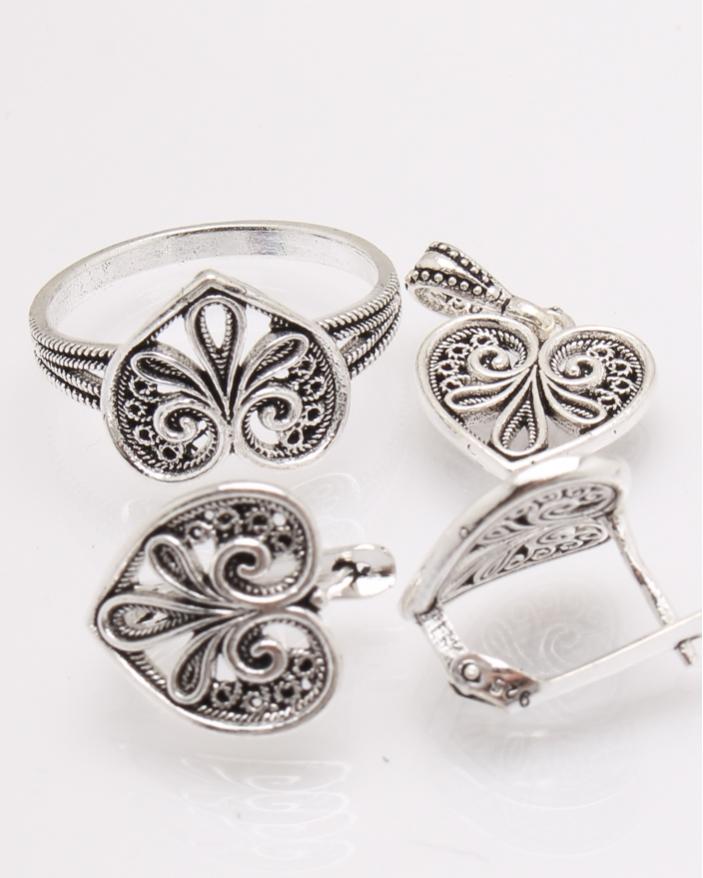Set argint frunza cod 3-27510, gr8.2