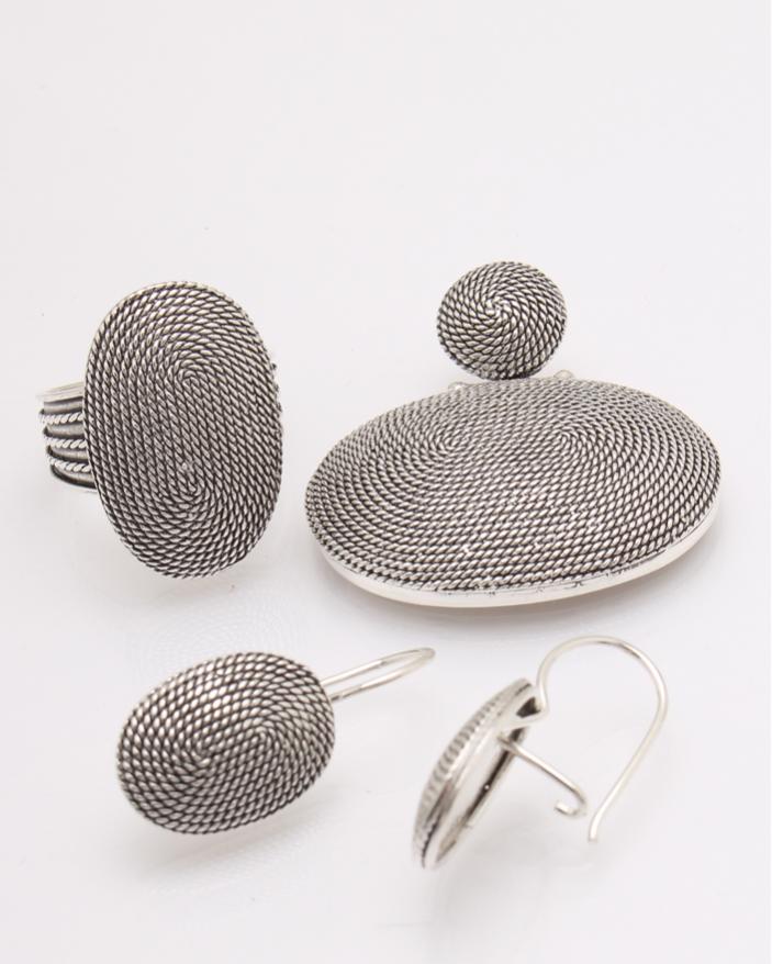 Set argint oval cod 3-27648, gr21.3