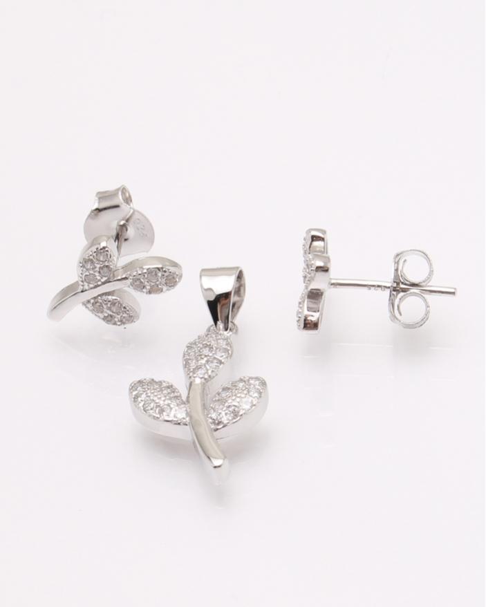 Set argint ramura cod 3-30830, gr2.8