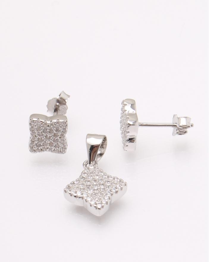Set argint si cubic zirconia cod 3-30831, gr2.8