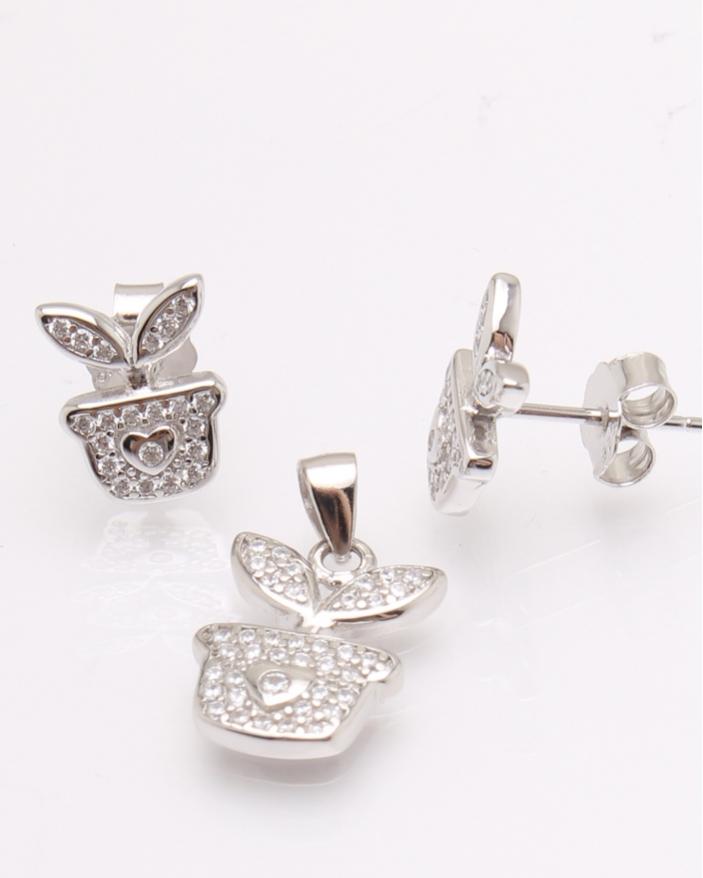 Set argint si cubic zirconia cod 3-30833, gr2.9