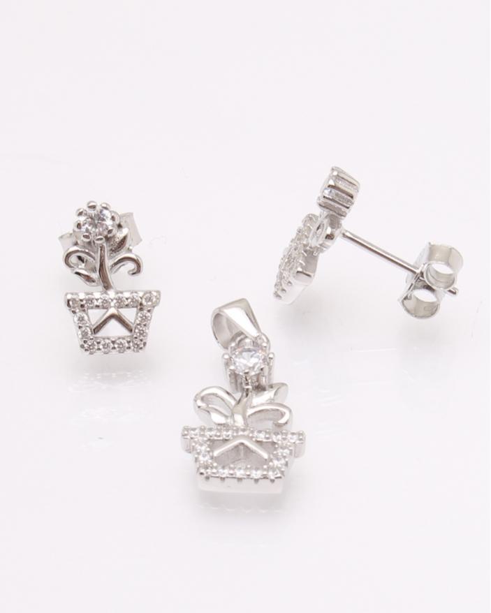 Set argint floare cod 3-30840, gr2.7